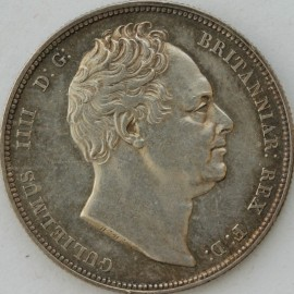 HALF CROWNS 1834  WILLIAM IV WW IN SCRIPT CLEANED