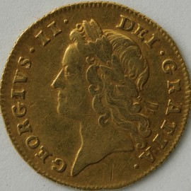 HALF GUINEAS 1738  GEORGE II GEORGE II YOUNG HEAD VERY SCARCE