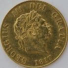 HALF SOVEREIGNS 1817  GEORGE III GEORGE III EF