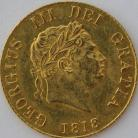 HALF SOVEREIGNS 1818  GEORGE III GEORGE III NEF
