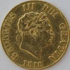 HALF SOVEREIGNS 1818  GEORGE III GEORGE III GVF