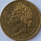 HALF SOVEREIGNS 1825  GEORGE IV GEORGE IV GVF