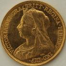 HALF SOVEREIGNS 1901  VICTORIA VICTORIA