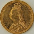 SOVEREIGNS 1890  VICTORIA JUBILEE HEAD MELBOURNE SCRATCHES