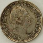 SILVER THREEHALFPENCE 1835  WILLIAM IV  UNC LUS