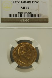 SOVEREIGNS 1837  WILLIAM IV WILLIAM IV NGC SLABBED