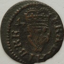 FARTHINGS 1614 -1625 JAMES I LENNOX TYPE3D MM TRIANGLE S2679 GVF