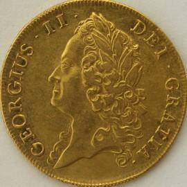 TWO GUINEAS 1739  GEORGE II GEORGE II INTERMEDIATE HEAD S3668 GVF/EF