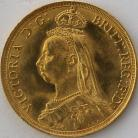 TWO POUNDS (GOLD) 1887  VICTORIA VICTORIA JUB. HEAD BU