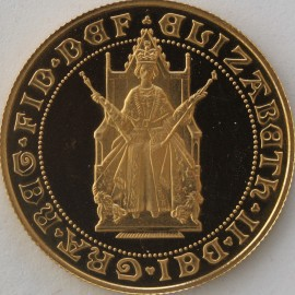 TWO POUNDS (GOLD) 1989  ELIZABETH II 500TH ANNIVERSARY OF SOVEREIGN FDC