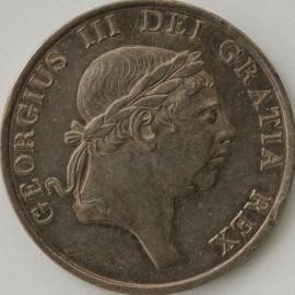 THREE SHILLINGS 1813  GEORGE III LAUREATE BUST TINY E/K