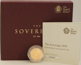 SOVEREIGNS 2019  ELIZABETH II MATTE FINISH MINT STATE