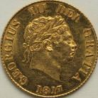 HALF SOVEREIGNS 1817  GEORGE III GEORGE III