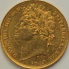 SOVEREIGNS 1821  GEORGE IV GEORGE IV LAUREATE HEAD GEF