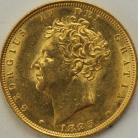 SOVEREIGNS 1825  GEORGE IV GEORGE IV BARE HEAD UNC LUS