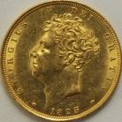 SOVEREIGNS 1825  GEORGE IV GEORGE IV BARE HEAD