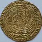HAMMERED GOLD 1361 -1369 EDWARD III NOBLE 4TH COINAGE TREATY PERIOD CALAIS MINT C IN CENTRE OF REV FLAG AT STERN OF SHIP MM CROSS POTENT