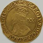 HAMMERED GOLD 1638 -1639 CHARLES I UNITE TOWER MINT GROUP D 5TH BUST WITH FALLING LACE COLLAR MM ANCHOR VF/GVF