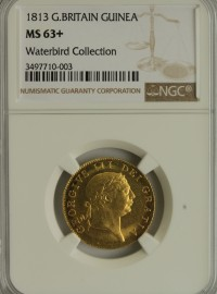 GUINEAS 1813  GEORGE III GEORGE III MILITARY TYPE NGC SLABBED RARE IN THIS GRADE