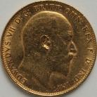 SOVEREIGNS 1909  EDWARD VII MELBOURNE NEF