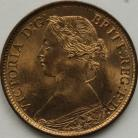 FARTHINGS 1863  VICTORIA VERY RARE IN THIS GRADE BU