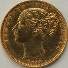 SOVEREIGNS 1848  VICTORIA LONDON SHIELD 2ND HEAD CLEANED GEF