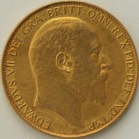 TWO POUNDS (GOLD) 1902  EDWARD VII EDWARD VII MATT PROOF FDC
