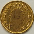 THIRD GUINEAS 1800  GEORGE III GEORGE III 1ST HEAD SCARCE FAINT MOUNT MARK IN CENTRE OF BUST GF/NVF