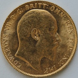 SOVEREIGNS 1907  EDWARD VII LONDON BU