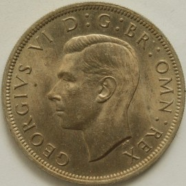 HALF CROWNS 1947  GEORGE VI  UNC LUS