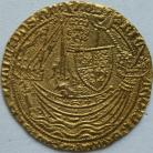 HAMMERED GOLD 1377 -1399 RICHARD II NOBLE FRENCH TITLE RESUMED TYPE IIIA FINE STYLE MM CROSS PATTEE RARE GVF