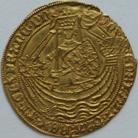 HAMMERED GOLD 1422 -1430 HENRY VI NOBLE ANNULET ISSUE ANNULET BY SWORD ARM AND IN ONE SPANDEL ON REV MM LIS A SUPERB PORTRAIT EF