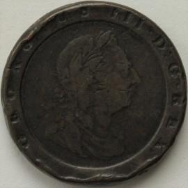 TWOPENCES 1797  GEORGE III CARTWHEEL NF