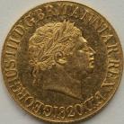 SOVEREIGNS 1820  GEORGE III GEORGE III GEF