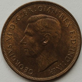 PENNIES 1938  GEORGE VI  UNC LUS