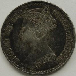 FLORINS 1877  VICTORIA DIE NUMBER 7 GVF