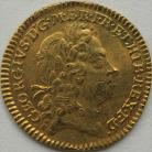 HALF GUINEAS 1722  GEORGE I GEORGE I 1ST HEAD - TRACES OF MOUNTING GVF