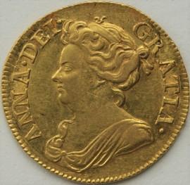 GUINEAS 1714  ANNE ANNE 3RD BUST S3574 NEF