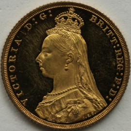 SOVEREIGNS 1887  VICTORIA JUBILEE HEAD PROOF BU