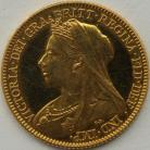 HALF SOVEREIGNS 1893  VICTORIA VEILED HEAD PROOF VERY RARE - DUSTY TONE FDC
