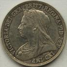 SHILLINGS 1893  VICTORIA OLD HEAD PROOF GEF