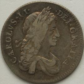 SHILLINGS 1663  CHARLES II 1ST BUST VARIETY GF