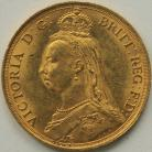 TWO POUNDS (GOLD) 1887  VICTORIA VICTORIA JUBILEE HEAD  UNC LUS