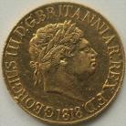 SOVEREIGNS 1818  GEORGE III GEORGE III VERY SCARCE - EDGE KNOCK GVF