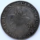 CROWNS 1635 -36 CHARLES I TOWER MINT GRIII 3RD HORSEMAN KING ON HORSEBACK SWORD UPRIGHT PLUME OVER SHIELD MM CROWN S2759 GF/VF