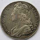 CROWNS 1741  GEORGE II ROSES YOUNG HEAD S3687 GEF