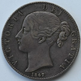 CROWNS 1847  VICTORIA XI VF