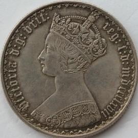 FLORINS 1867  VICTORIA DIE NO 6 BRIT: RARE EF