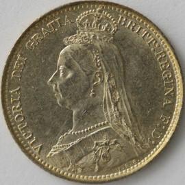 SIXPENCES 1889  VICTORIA  UNC LUS