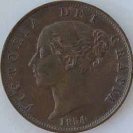 HALFPENCE 1854  VICTORIA  GEF LUS
